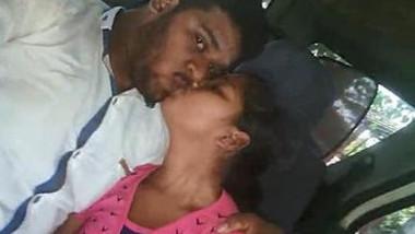 desi hot couple kissing & blowjob in Car