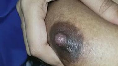 Desi boob pressing and nipple massage
