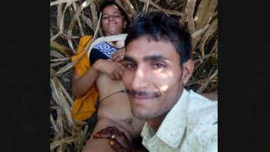 Village couple fucking hard in jungle part 1