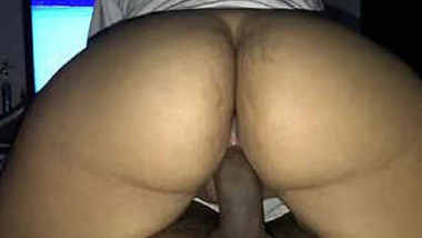 Horny hot wife loves riding hubby's dick