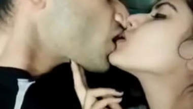 Collage couple's slow and romantic sex