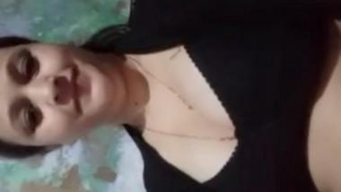 BIG BOOBIES DESI WIFE TEASING SELFIE VIDEO
