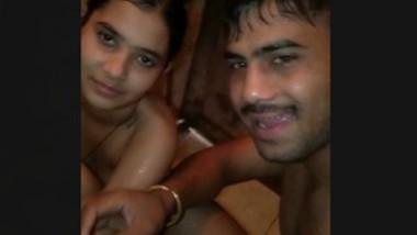 Village lover bath together