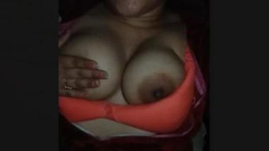 Horny Bhabi Boob Pressing
