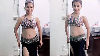 super hot desi babe showing her assets in lingerie