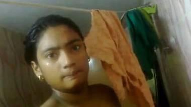Bathroom nude selfie of desi girl