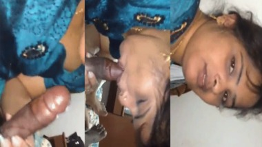 New desi MMS video of horny Desi Bhabhi sucking dick