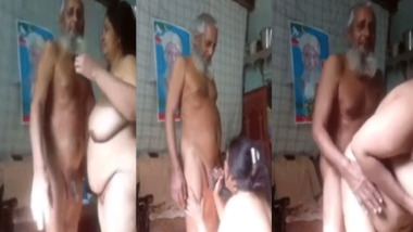 Desi old man fucking her wife at home on cam