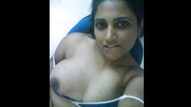 desi preggo parwati with her husband showing swollen belly and milky tits part- 1