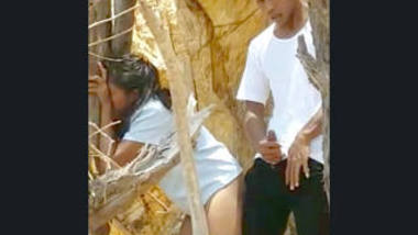 Sexy mayanmar lover outdoor fucking