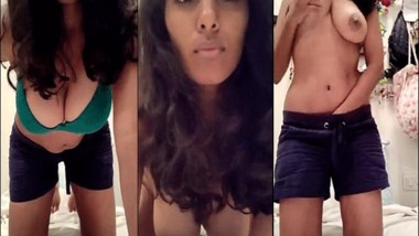 Big boob sexy Indian girl makes her first nude video