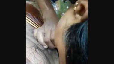 Desi village bhabi suck her devar dick in pond