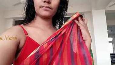 Desi Collage girl dress change