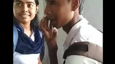 Desi collage lover kissing sn