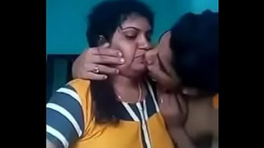 Indian mom sex with his teen son in kitchen and bed