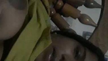Desi Malayali wife milking boobs video