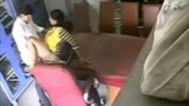 Hidden cam catches school teacher having fun with her colleague