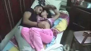 Hidden cam catches a young couple enjoying a romantic moment
