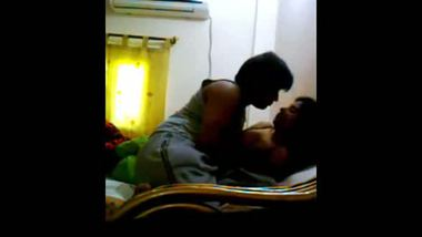 Horny young couple enjoy a sensual home sex session