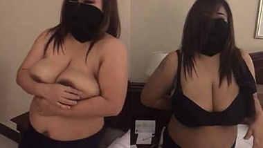 huge boobs mallu aunty prepares for boob job