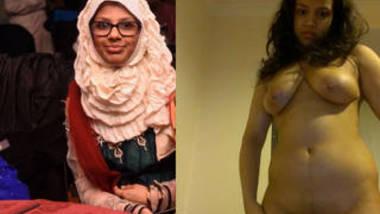 hot hijab girl nude selfie video