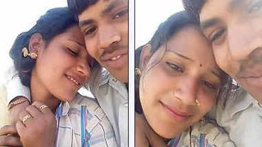Indian Lover Kissing Outdoor and Boob pressing