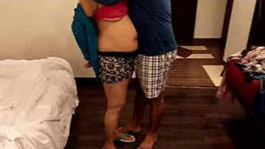 Indian hot wife romance in room