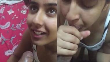 Desi Colg Girlfriend Blowjob & Cumshot in Mouth wid Audio