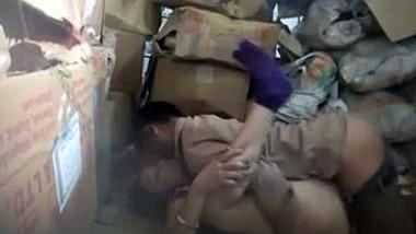 Desi couple caught fucking in store room