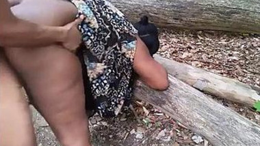 Big ass aunty drilled hard in forest