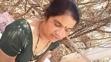 Desi telugu aunty sucking cock and getting boobs pressed