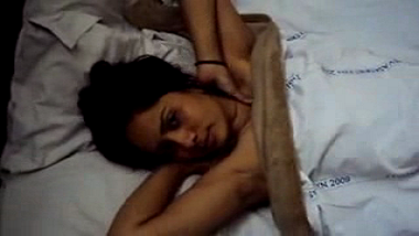 Incest home sex tape of Indian bhabhi giving blowjob to devar