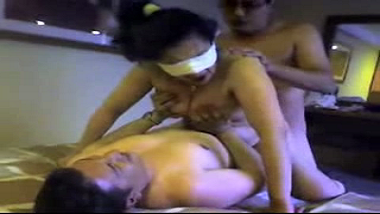 Hardcore threesome anal sex scandal of desi Indian wife