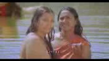 """Fsiblog – Desi village girls boob show during bath from """"Vergin Goat"""""""