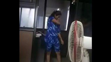 Sexy Telugu Girl Changing Dress At Office