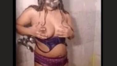 Desi Bhabi Bathing in Shower