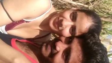 Beautiful village girl outdoor romance with her lover