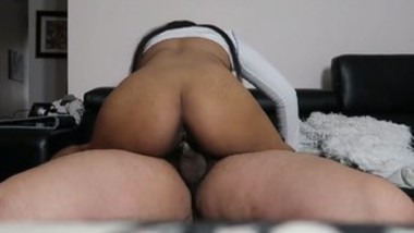 BUTTCRACK SLUT DOES YOGA AND GETS CREAMPIED