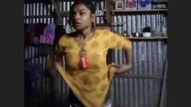 Village girl changing