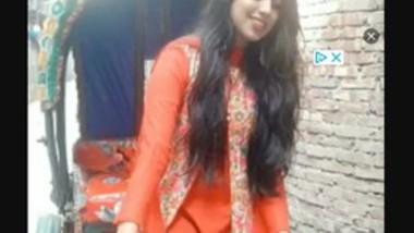 Beautiful Cute Girl Showing On Video Call