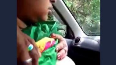 Tamil Wife Showing Big Boobs Car