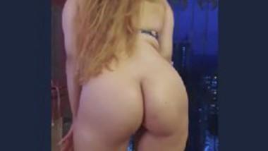 Beautiful girl show her big ass