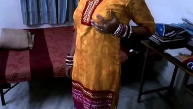 Boy behind camera caught Bhabhi stripping and insisted on XXX posing by Desi wife