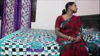 Sexy Telugu bhabhi's interview in a hotel room