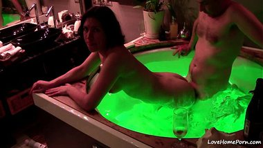 Hot tub sex of a sexy NRI bhabhi and her lover