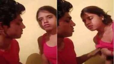 Beautiful Desi girl savors man kissing her XXX lips and touching boobs