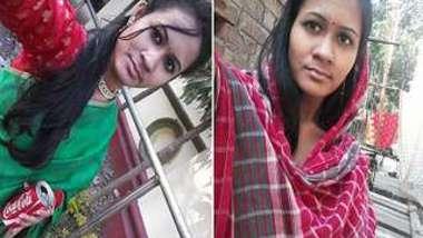 Desi girl with saggy boobies masturbates pussy till she cums on camera