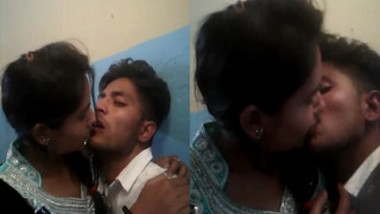 Lovely Indian student kisses her sex partner who touches her XXX parts