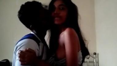 Desi lover sucking boob