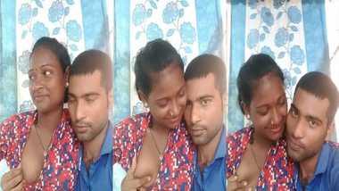 Tribal Bihari girl romance with lover on cam